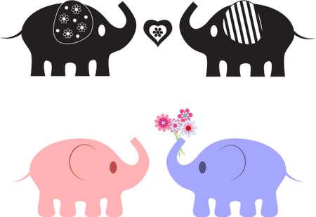 Elephant Vectors Illusztráció