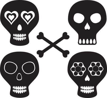 Bluck Skull Vectors