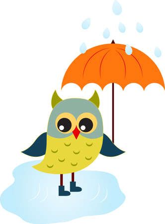Owl Vector, Cartoon Owl Иллюстрация