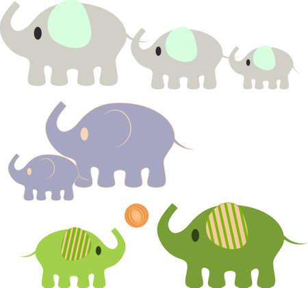 Elephant Vecteurs, Éléphant Illustrations