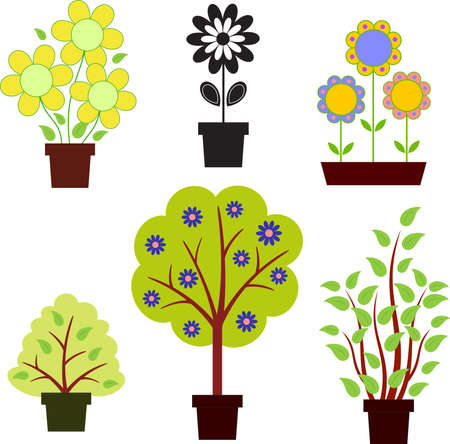 Flowers, Trees, Bushes Vectors