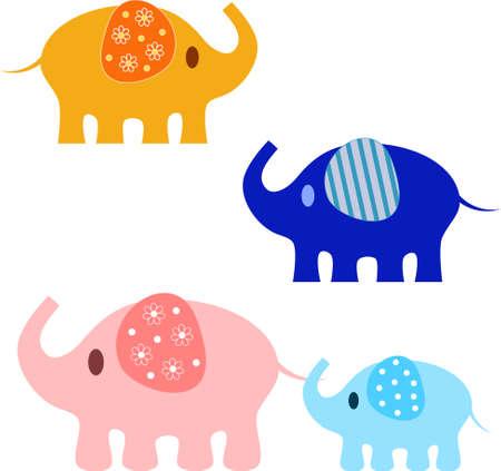 Elephant Vectors, Elephant Illuustrations Illusztráció