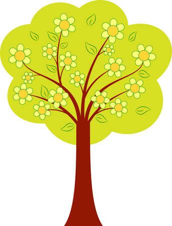 緑の木のベクトル