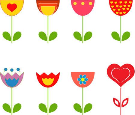 Flowers, Tulips 向量圖像