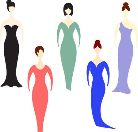 Women, Dresses 向量圖像