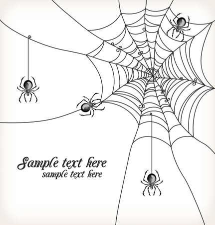 spinnennetz: Hintergrund mit Spinnen und Spinnweben Illustration