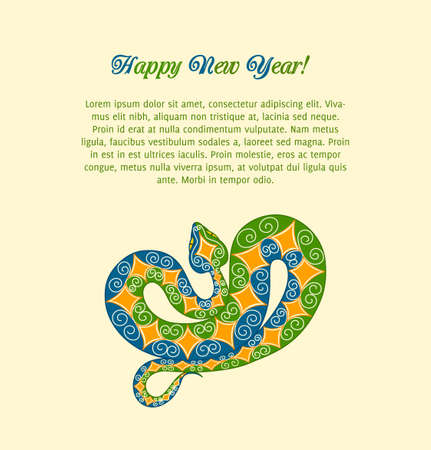 snake year: colorful snake. 2013 new year