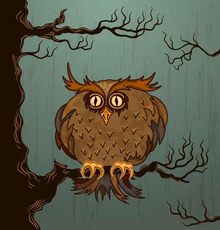 Cute owl Stock Vector - 15362573