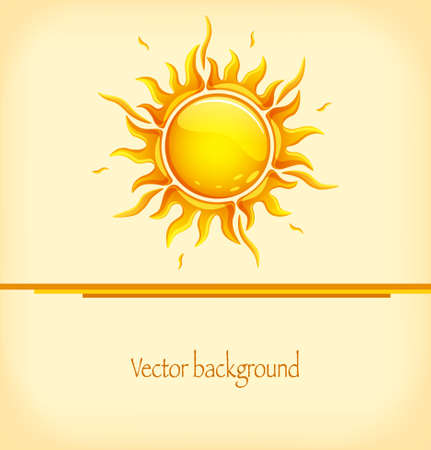 Abstract background with hot sun in a glossy style