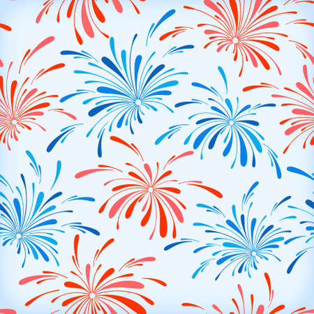 Seamless pattern of holiday fireworks Stock Vector - 15362645