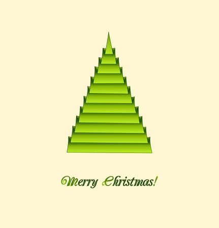 Creative christmas tree in a origami style  Illustration  Illustration
