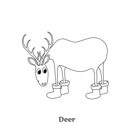 Deer isolated on white background  Black-and-white vector Illustration Stock Vector - 16231807