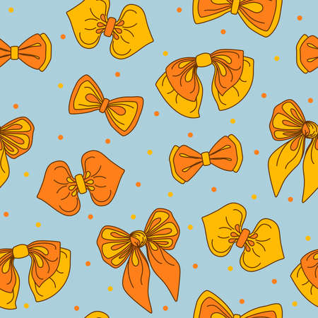 Vintage bow-tie collection seamless pattern. Vector illustration-tie collection seamless pattern Vector