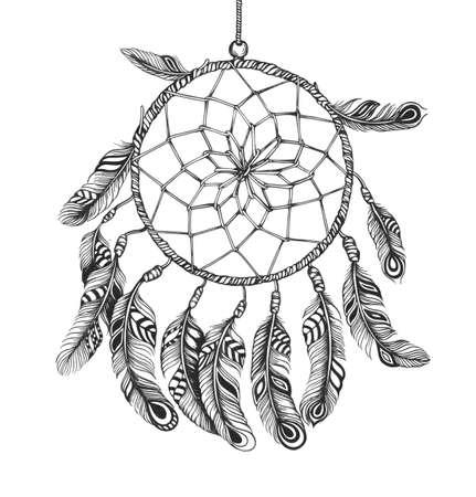 atrapasueños: Estilo indio americano dreamcatcher Chamán