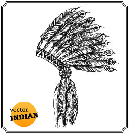 Native American Indian chieftain headdress   photo