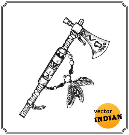 sioux: American Indians ornate tomahawk