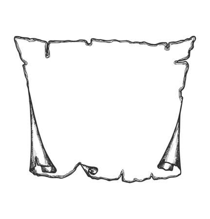 chronicle: Blank ancient scroll paper.   Illustration