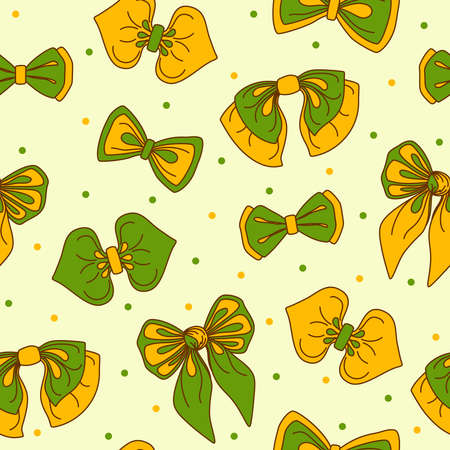reiteration: Pattern with bows. Textile surface texture. Vector illustration. Illustration