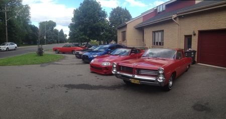 Nice line up of mint condition cars