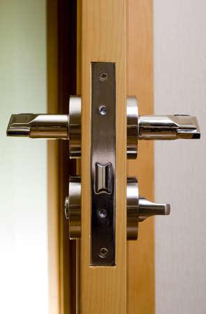 door handle, close-up photo