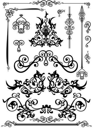 decorative elements,isolated on white background Illustration