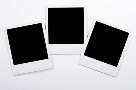 white polaroids: Polaroids on a white background Stock Photo