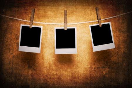 polaroids: Polaroids on a dirty background