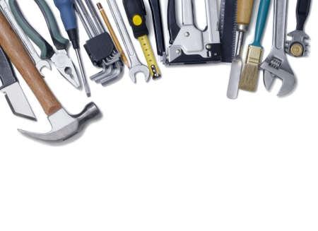 Building tools on a white background photo