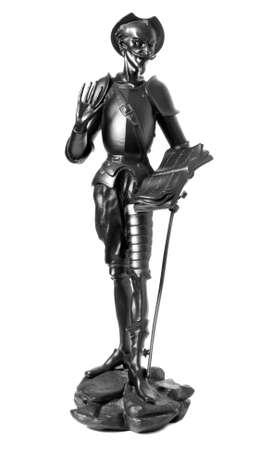 don quixote:  from pig-iron on white background Stock Photo