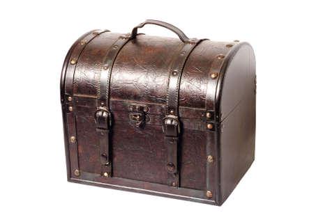 Treasure chest on white background photo
