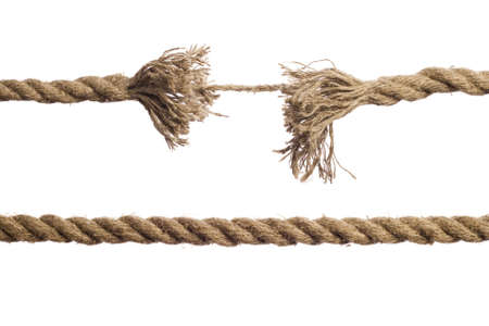 fray: Rope on the isolated white background