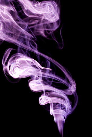 Colour smoke on a black background Stock Photo - 7167658