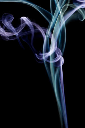 Colour smoke on a black background Stock Photo - 7167657