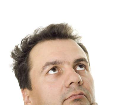 Portrait of the businessman. The businessman is puzzled, surprised photo