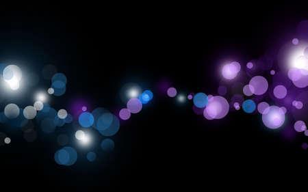 beautiful defocus lights on black background Stock Photo - 7404535