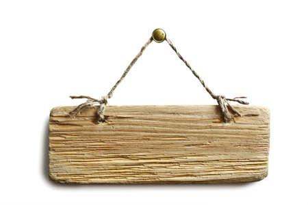 knotting: Vecchio pezzo di bordo su uno sfondo bianco Archivio Fotografico