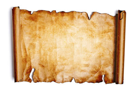 west: Old paper on a white background Stock Photo