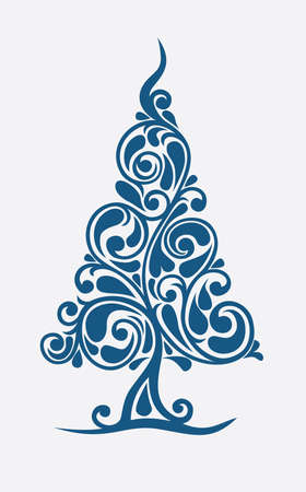 Christmas tree in decorative execution Stock Vector - 8264840