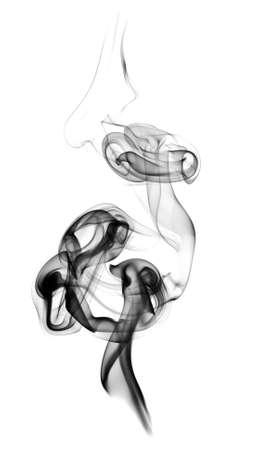 Smooth smoke on a white background Stock Photo - 8359129