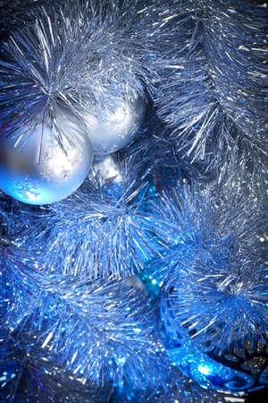 Christmas background. Blue illumination Stock Photo - 8404731