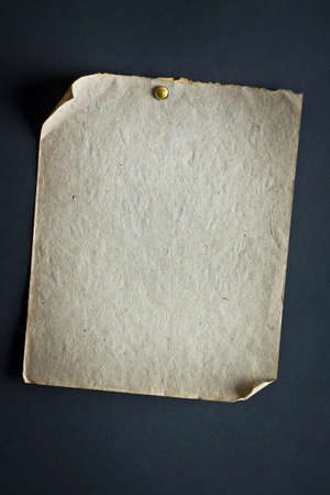 Old paper on a black background Stock Photo - 8602711