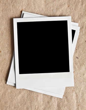 Old Polaroids close up photo