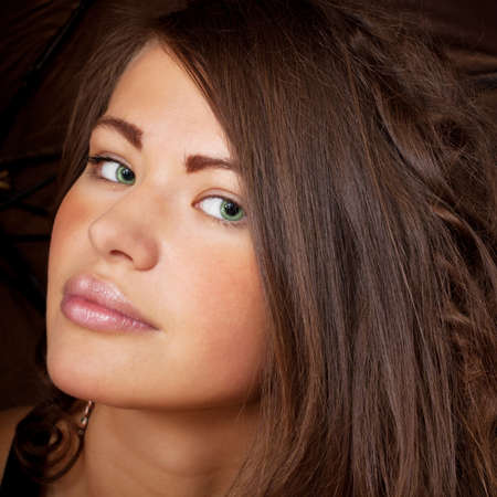 Portrait of the beautiful young woman close up Stock Photo - 10767518