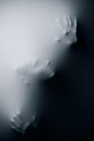 Cier: Wizja osoby na tkaninę Zdjęcie Seryjne