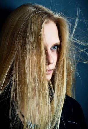 Portrait of the beautiful young woman. Fashion art photo photo