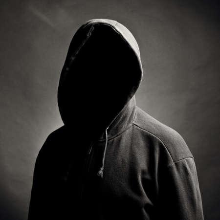 潜在的な人と人。黒の背景 写真素材