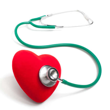 Stethoscope and heart. The isolated background photo