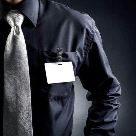 etiquetas de ropa: Manager. Placa en la vanguardia Foto de archivo