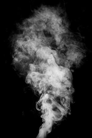 abstract smoke: Smoke fragments on a black background