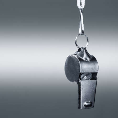 sports metal whistle closeup Stock Photo